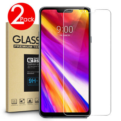 2 PACK Premium 9H Tempered Glass Screen Protector For LG G7 ThinQ