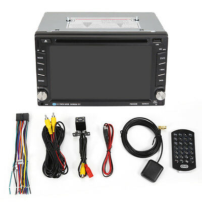 "GPS Stereo Bluetooth Touch Screen Car Radio MP5 Player 6.2"" 2 Din MP3/FM/DVD/USB"