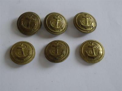 Lot of  6 pcs. Bulgaria Bulgarian Communist  Military Marine Navy Buttons