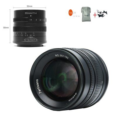 7artisans 55mm F1.4 APS-C Manual Focus Lens For Canon EOS M EF-M Mount M10 M6 M5