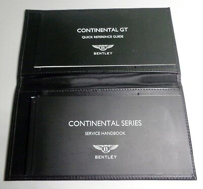 2014 Bentley Continental GT Owners Manual Quick Ref./ Service book Supplements
