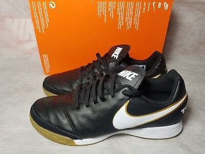 0bc432350 New Nike Tiempo Genio II Leather IC Indoor Soccer Black White Shoe Men Size  6.5
