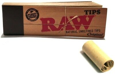 RAW ORIGINAL NATURAL UNREFINED TIPS For Smoking Cigarette Rolling Papers Packs