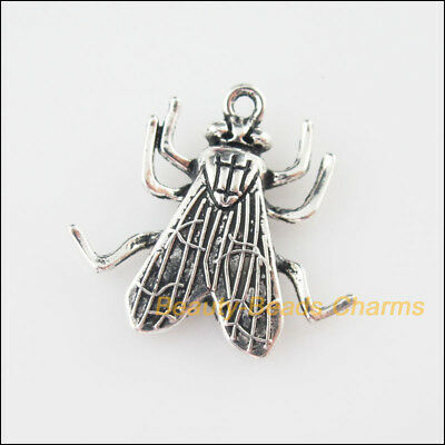 3Pcs Tibetan Silver Tone Insect Fly Charms Pendants 12x14mm