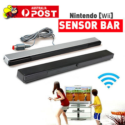 Wireless/Wired Infrared IR Signal Ray Sensor Bar/Receiver Nintendo Wii Remote AU