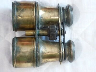 Small Vintage Brass Binoculars with no strap