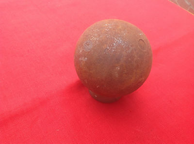 Early Iron 4in dia Cannon Ball Great Collectable