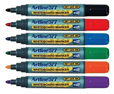 Artline 577 Whiteboard Markers Assorted Colour and Amounts Bullet 2.0mm
