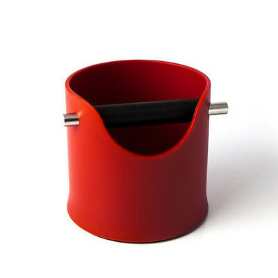 Red Knock Bin Espresso Coffee Grinds Tamper Shock-absorbing CREMA PRO