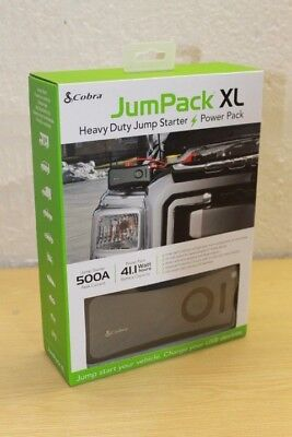 Cobra CPP12000 Jump Lead Starter USB Portable Charging Powerbank 11100 mAh