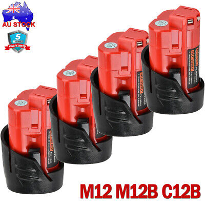 2x 18V 5.0Ah Red Lithium Ion XC 5.0 Battery For Milwaukee M18 M18B4 48-11-1828