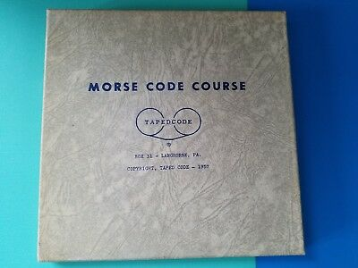 Vintage Taped Code , Morse Code Course 1957!!!