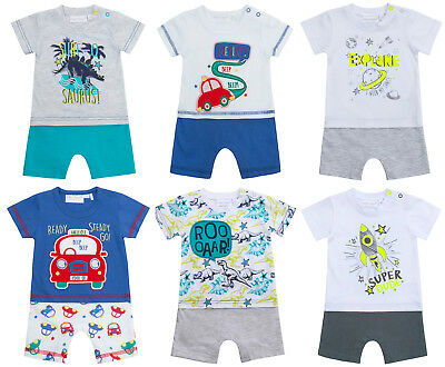 Baby Boys Body Suit Short Romper T Shirt + Shorts Outfit Design Babies Gift Size