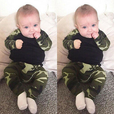 Army Set T-shirt Baby Infant Hot Boy Kids Newborn Outfits Uk Clothes Toddler