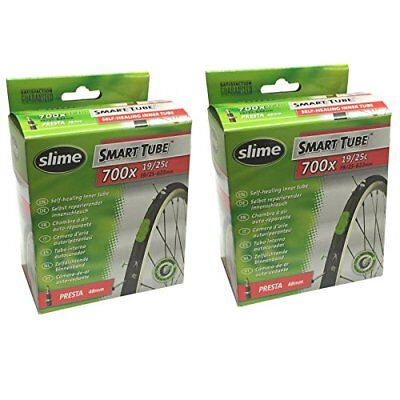 Slime Smart Tube Self Healing 700c x 19-25 Presta Inner Tubes Pack of 2