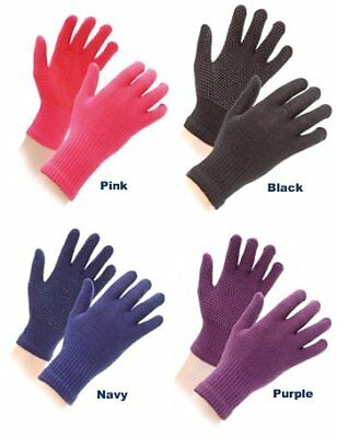 Shires Womens Equestrian Sure Grip Horse Riding Gloves, Black, One Size