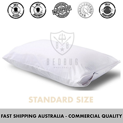 2 x Standard Size, Hypoallergenic, Bed Bug & Dust Mite, Pillow Protector & Cover