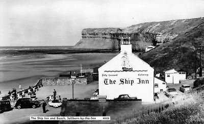 SALTBURN BY THE SEA GENERAL VIEW YORKSHIRE ENGLAND OLD BW FRAMED PRINT B12X797