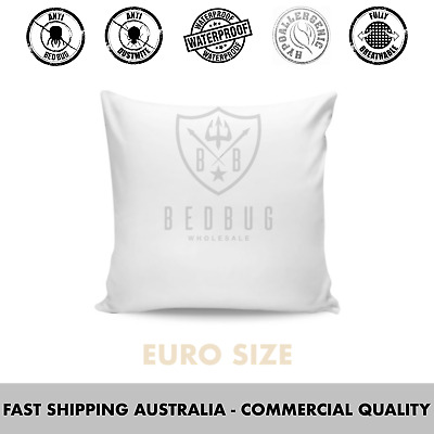 2 x Euro Size, Hypoallergenic, Bed Bug & Dust Mite, Pillow Protector & Cover