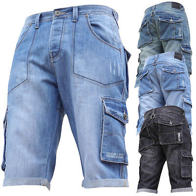 New Mens DENIM AND DYE Summer Shorts Cargo Jeans Combat Work Gym Casual Sale