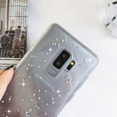 Luxury Clear Shockproof Bling Glitter Sparkly TPU Case Cover for Samsung S10+ S9