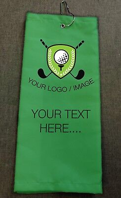 Personalised Golf Towels - Choose Your Wording, Colour, Image or Logo Great Gift