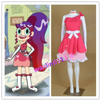 Star Vs.the Forces of Evil Princess Star Pink Dress Cosplay Costume Custom Made