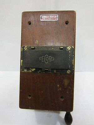 Herman H Sticht Record Electrical Company Ohm-megohm Meter wood case (829