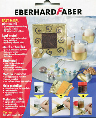 Eberhard Faber Leaf Metal Copper - 11 Sheets 14 X 14Cm Easy Metal For Fimo Clay