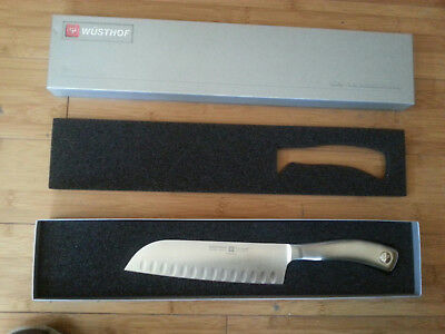 "New Wusthof Culinar 7"" Hollow-Ground Santoku Knife 4179/17 Germany Chef Cook HG"