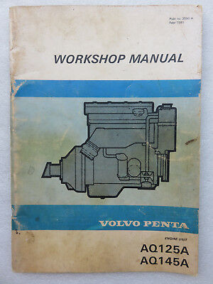 volvo penta aq125a aq145a engine service repair workshop manual book rh picclick com