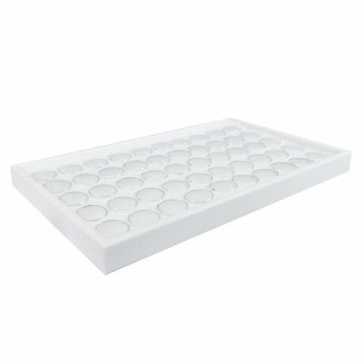 "50 Gem Jars White Showcase Stackable Display Tray, White Foam 14 3/4""W x 8 1/4""D"
