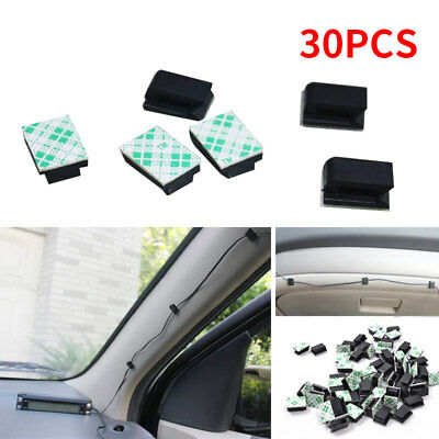 Cable Clip Black Wire Tie GPS 30Pcs/Set Fixing with Adhesive