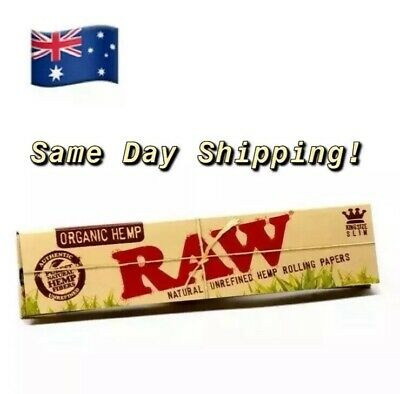 Raw Organic Hemp King Size Slim Natural Rolling Papers Smoking Paper Quality
