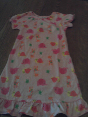 10729964d NWT BABY GAP girl lite pink nightgown w multicolored animals  size ...