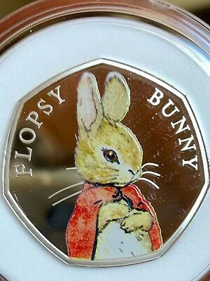 Minting Error Royal Mint Beatrix Potter Flopsy Bunny silver proof 50p