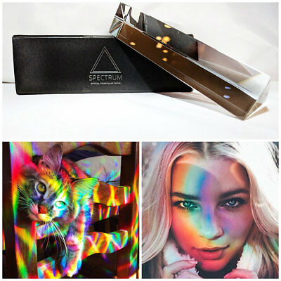 Spectrum 6/150 Triangular Photography Prism Optical Crystal Glass Physics Best
