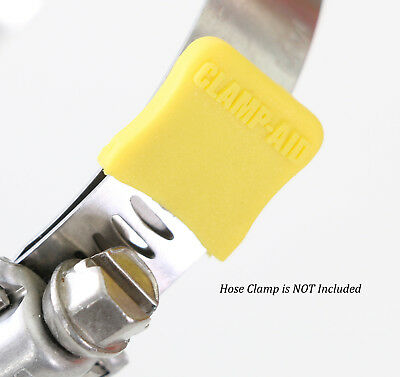 Yellow Industrial Safety Protectors caps for Worm drive hose clamps by CLAMP-AID