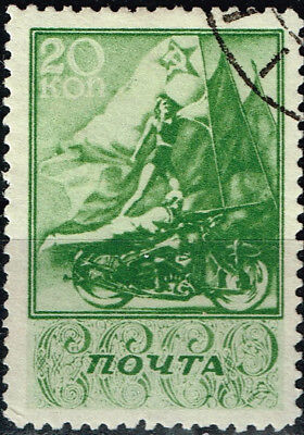 Russia Soviet Motorcycle Parade Ride stamp 1938