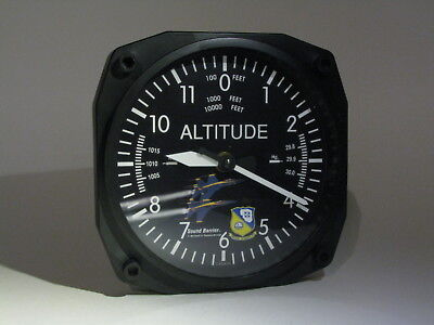 Blue Angels F-18 Hornet Quartz Wall Clock Altimeter Motif