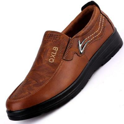 New Men Suede Leather Casual Shoes Breathable Antiskid Slip on Loafers Moccasins