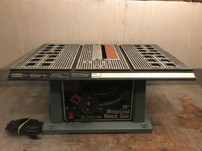 Delta 10 Table Bench Saw Model 36 510 40 00 Picclick
