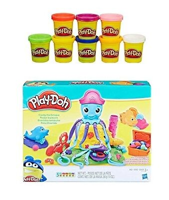 Play-Doh Cranky the Octopus + Play-Doh Rainbow Starter Pack Bundle. PD