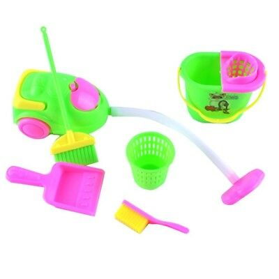 6Pcs Home Furniture Furnishing Cleaning Cleaner Kit for Barbie Doll House Mini