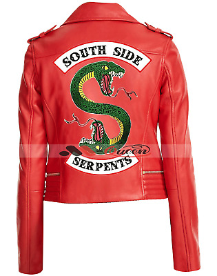 Riverdale Southside Serpents Jacket Cheryl Blossom Red Leather Jacket Womens