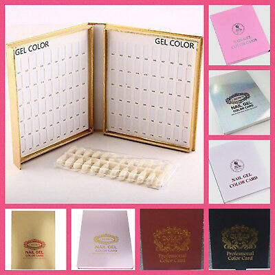 120 or 216 Nail Tip Colour Chart Display Books For UV/LED Gel Polish WithTips