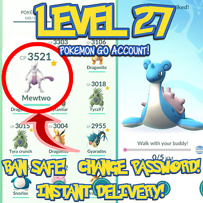Pokemon-Go Accounts Level 27 | Rare | Ban Safe | Instant Delivery