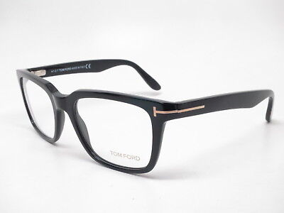 7a808ed4ea New Authentic Tom Ford TF 5304 001 Shiny Black Eyewear Eyeglasses 54mm  Rx-able ~