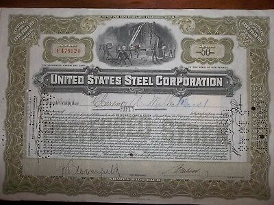 stock certificate United State Steel Corporation - circulated