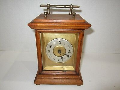 Antique Junghans Carriage Bell Alarm Clock made in Germany